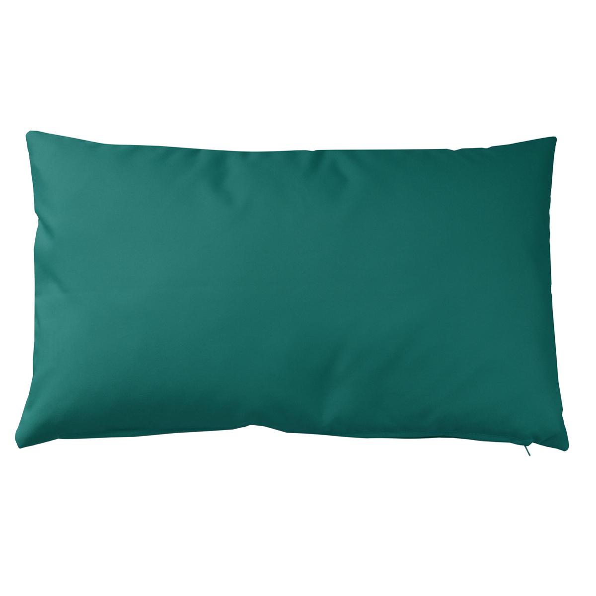 Housse de coussin d'extérieur en tissu outdoor - Bleu Paon - 30 x 50 cm