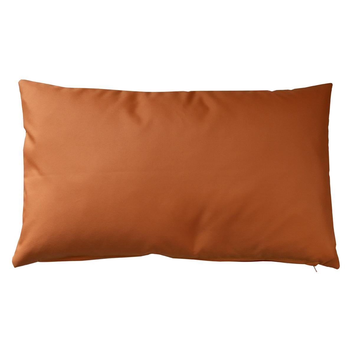 Housse de coussin d'extérieur en tissu outdoor - Orange - 30 x 50 cm