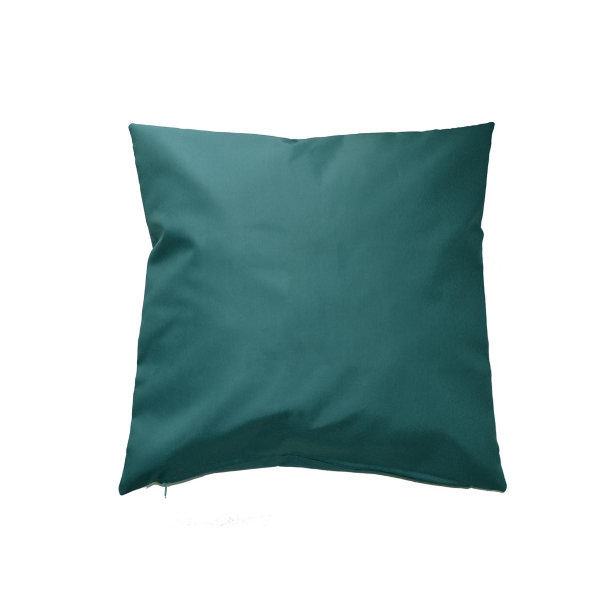Housse de coussin d'extérieur en tissu outdoor - Bleu Paon - 45 x 45 cm