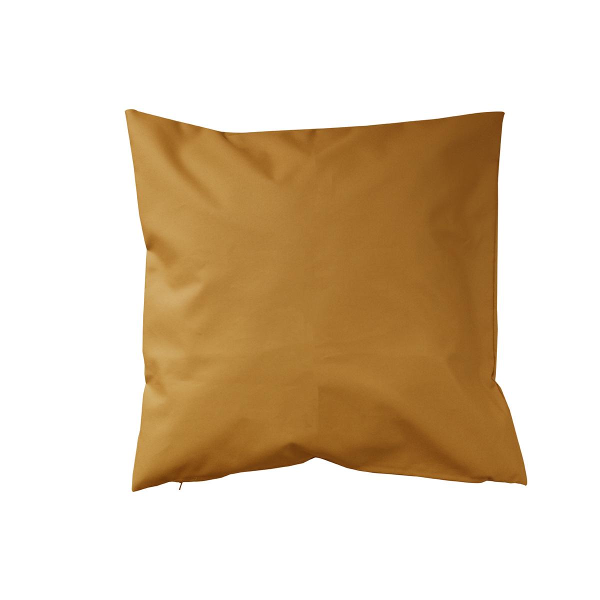 Housse de coussin d'extérieur en tissu outdoor - Moutarde - 45 x 45 cm