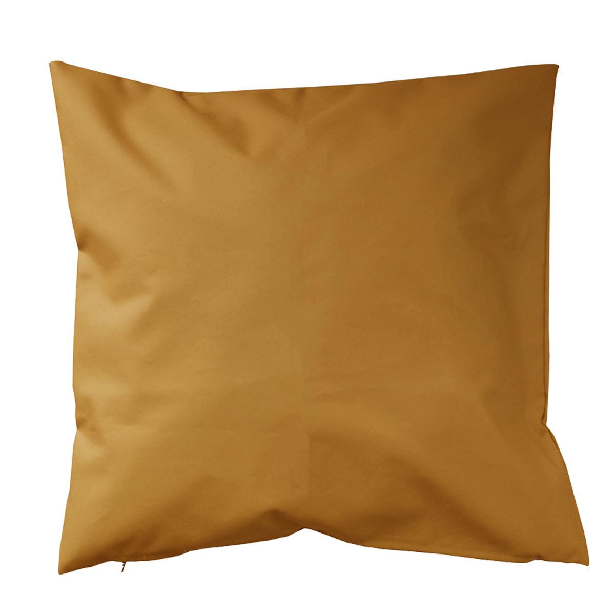 Housse de coussin d'extérieur en tissu outdoor - Moutarde - 60 x 60 cm