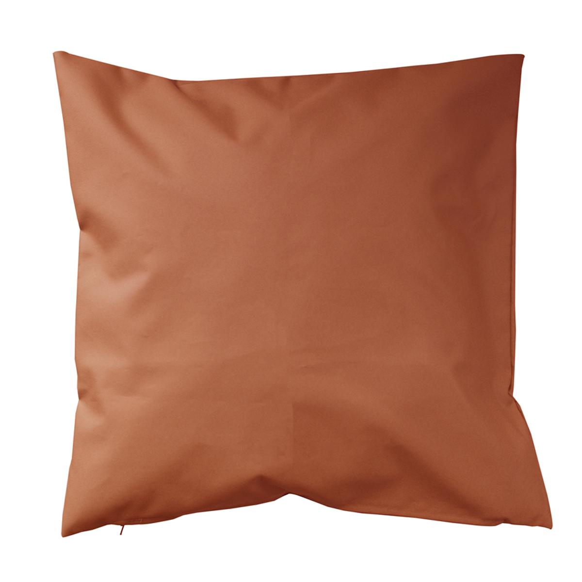 Housse de coussin d'extérieur en tissu outdoor - Orange - 60 x 60 cm