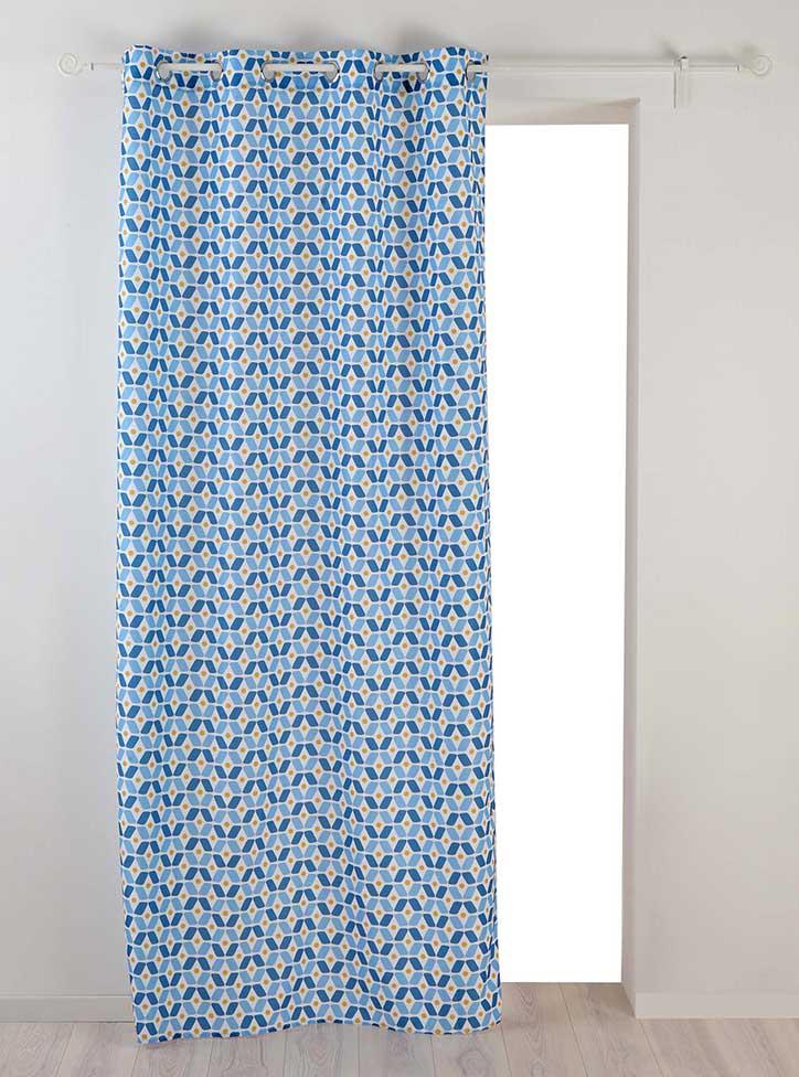 Rideau à illets Esprit Graphisme - Blanc - 140 x 260 cm