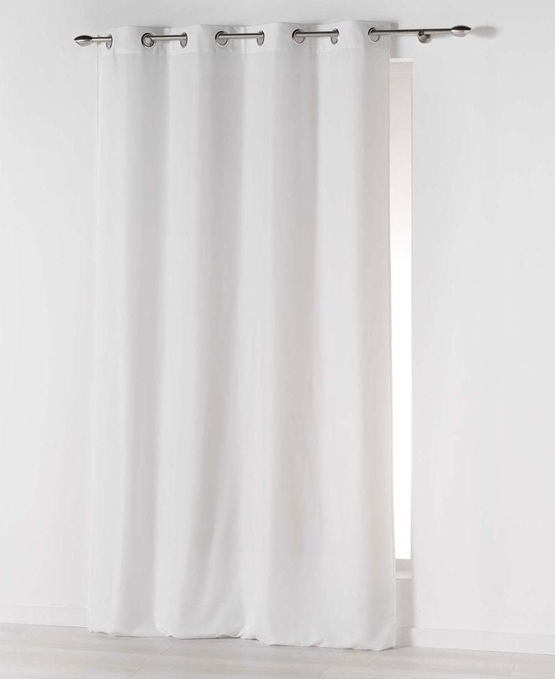 rideau illets uni blanc indigo moutarde rouge bleu gris naturel. Black Bedroom Furniture Sets. Home Design Ideas