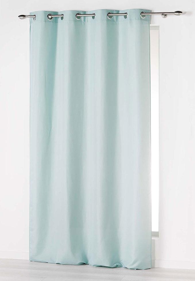 rideau illets uni menthe indigo moutarde blanc rouge bleu gris naturel. Black Bedroom Furniture Sets. Home Design Ideas