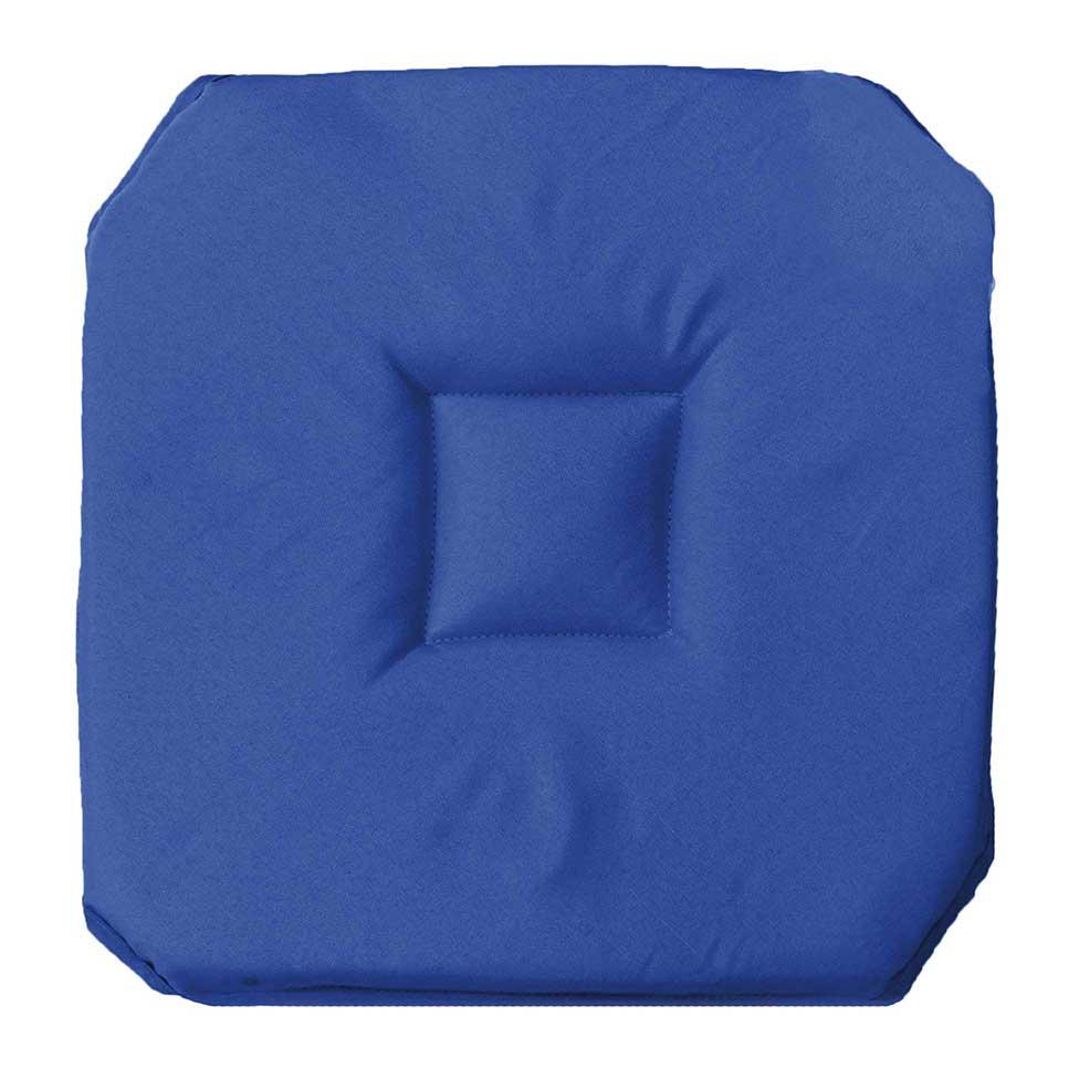Galette de chaise uni indigo corail beton menthe homemaison vente en ligne - Galette de chaise avec rabat ...