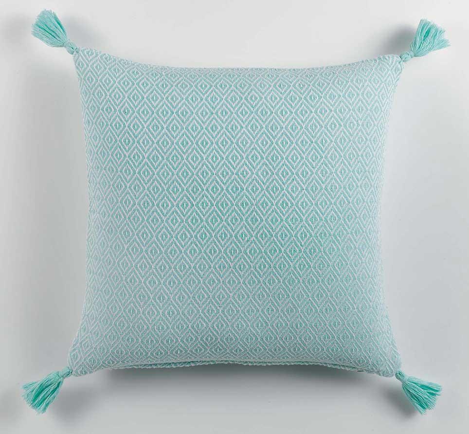 housse de coussin motifs graphiques menthe corail homemaison vente en ligne housses. Black Bedroom Furniture Sets. Home Design Ideas