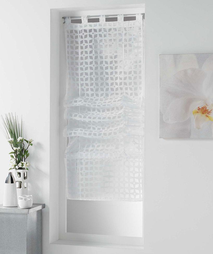 Store Droit Esprit Art Déco - Blanc - 90 x 180 cm