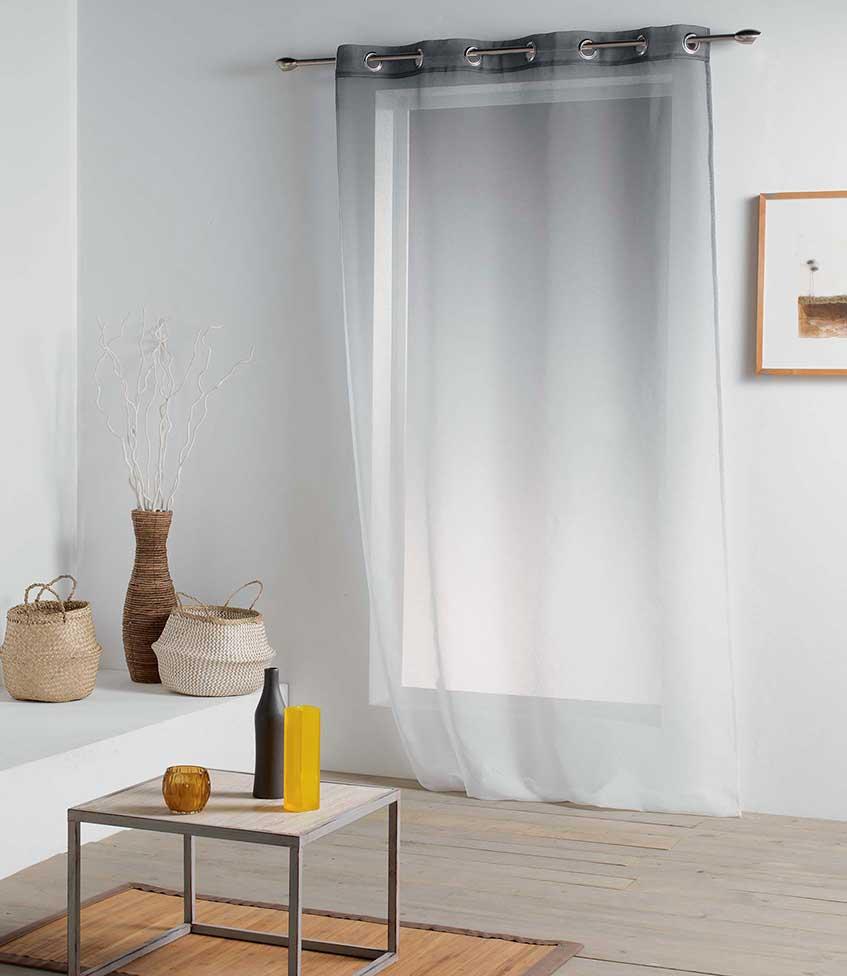Voilage Dégradé de Couleur - Anthracite - 140 x 260 cm