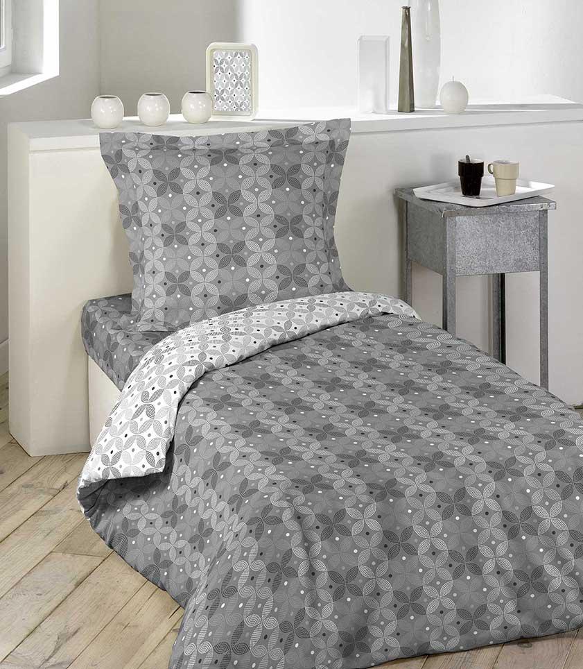 housse de couette esprit carreaux de ciment gris souris homemaison vente en ligne. Black Bedroom Furniture Sets. Home Design Ideas