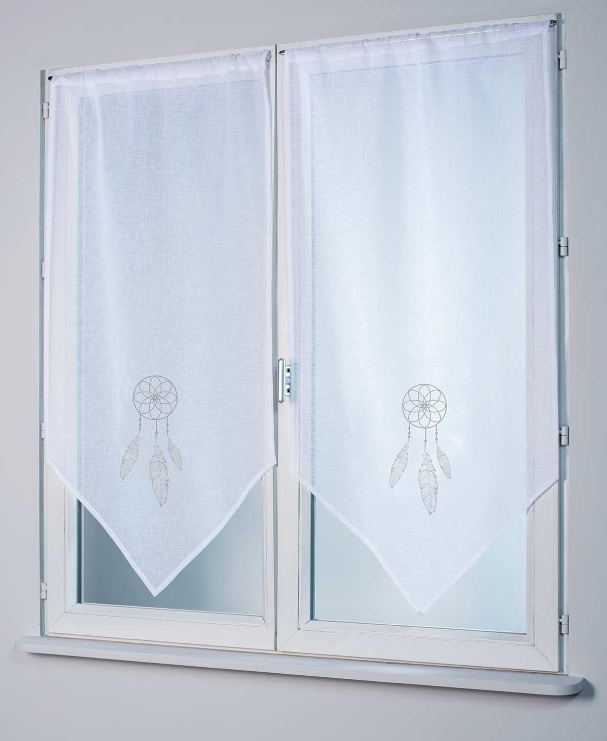 Paire de Vitrages Attrape-rêves - Gris - 58 x 120 cm