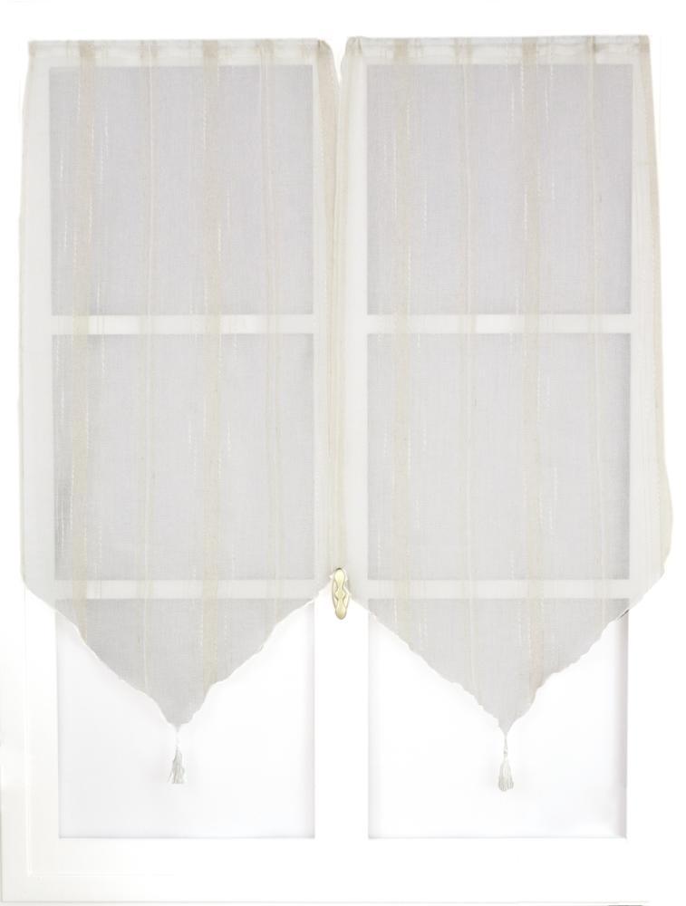paire de petits vitrages nature naturel homemaison. Black Bedroom Furniture Sets. Home Design Ideas
