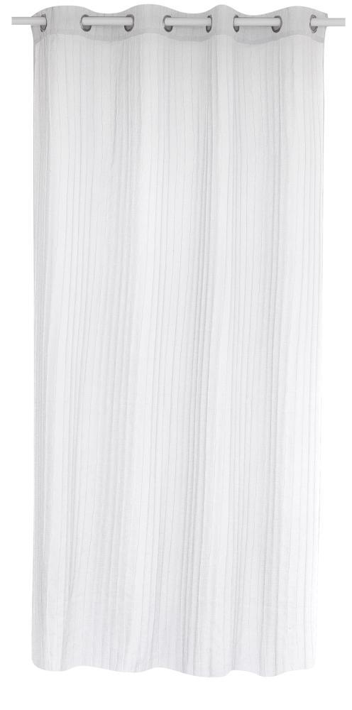 Voilage Effet Plissé - Blanc - 140 x 260 cm