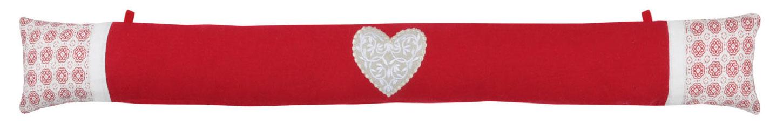 Coussin Bas de Porte Montagne Chic - Rouge - 90 x 10 cm