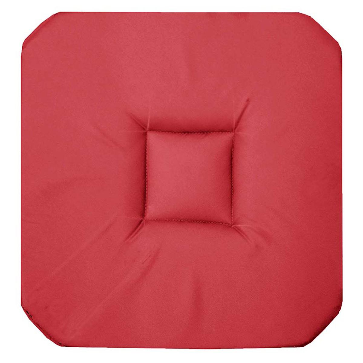 Galette de chaise unie colorée  (Corail)