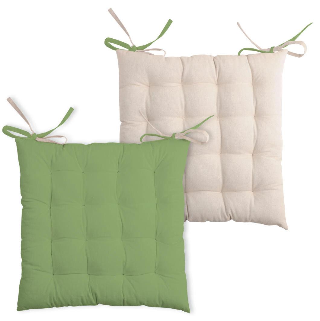 galette de chaise bicolore mousse lin rouge lin lin corail gris perle ecru lin. Black Bedroom Furniture Sets. Home Design Ideas