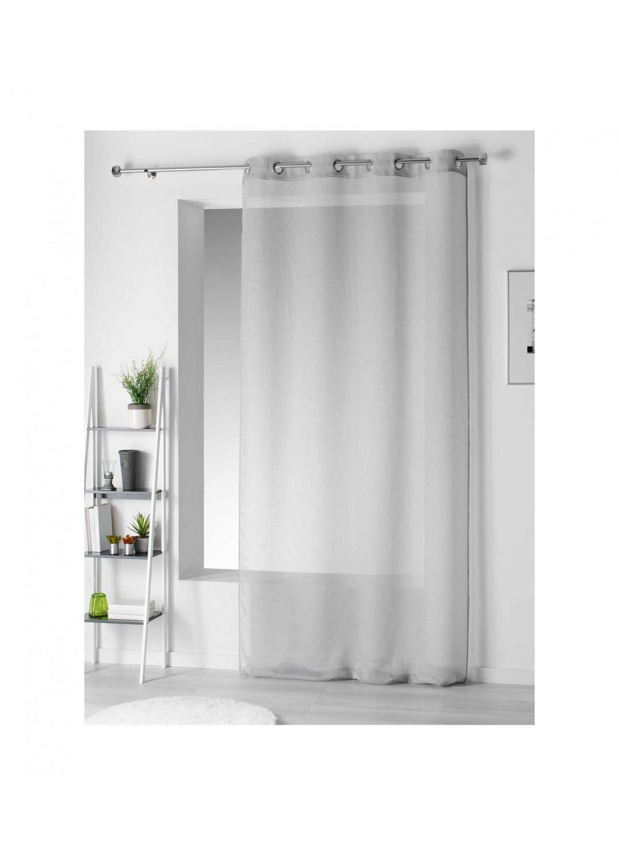 voilage ray en pointill s gris saumon blanc jaune ciel indigo menthe. Black Bedroom Furniture Sets. Home Design Ideas
