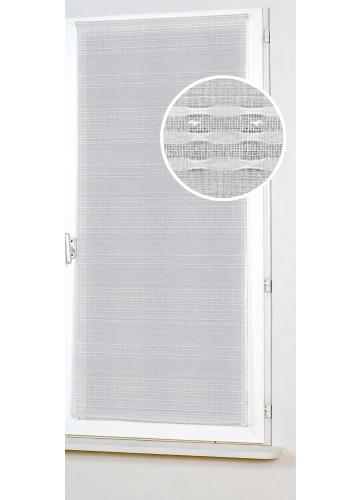 Vitrage Uni et à Rayures - Blanc - 80 x 210 cm