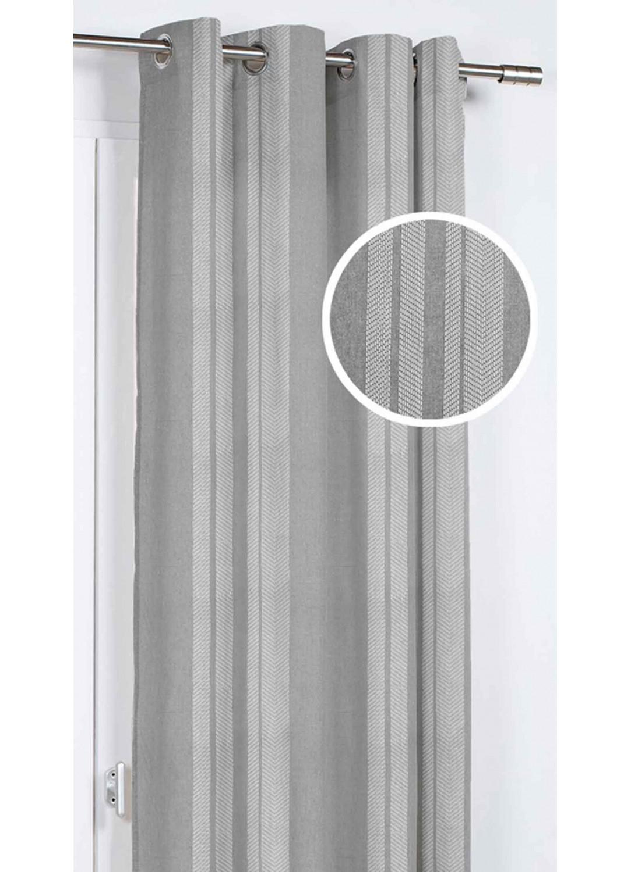 rideau d ameublement aux diverses rayures gris bleu clair marine homemaison vente en. Black Bedroom Furniture Sets. Home Design Ideas