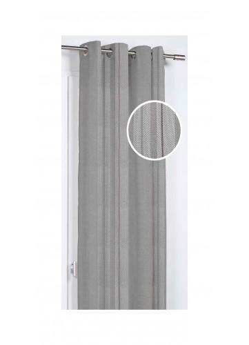 Rideau aux Rayures Variées - Beige - 140 x 260 cm