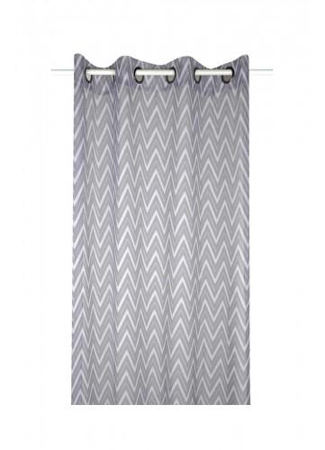 Voilage Effet ZigZag - Gris - 140 x 260 cm
