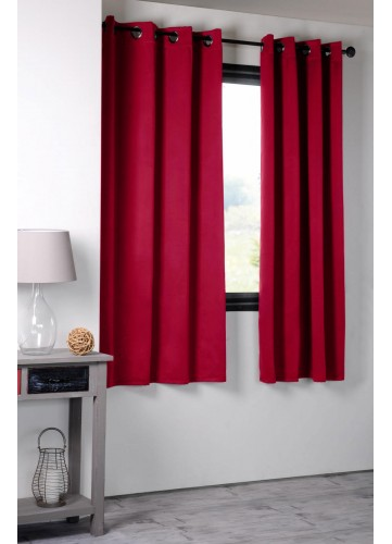 Rideau Occultant Uni 210gr/m2 - Rouge - 135 x 180 cm