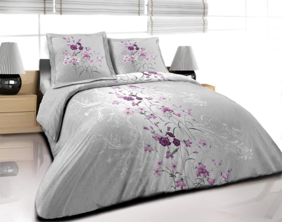 parure de couette 3 pi ces 100 coton chic gris homemaison vente en ligne parures de lit. Black Bedroom Furniture Sets. Home Design Ideas