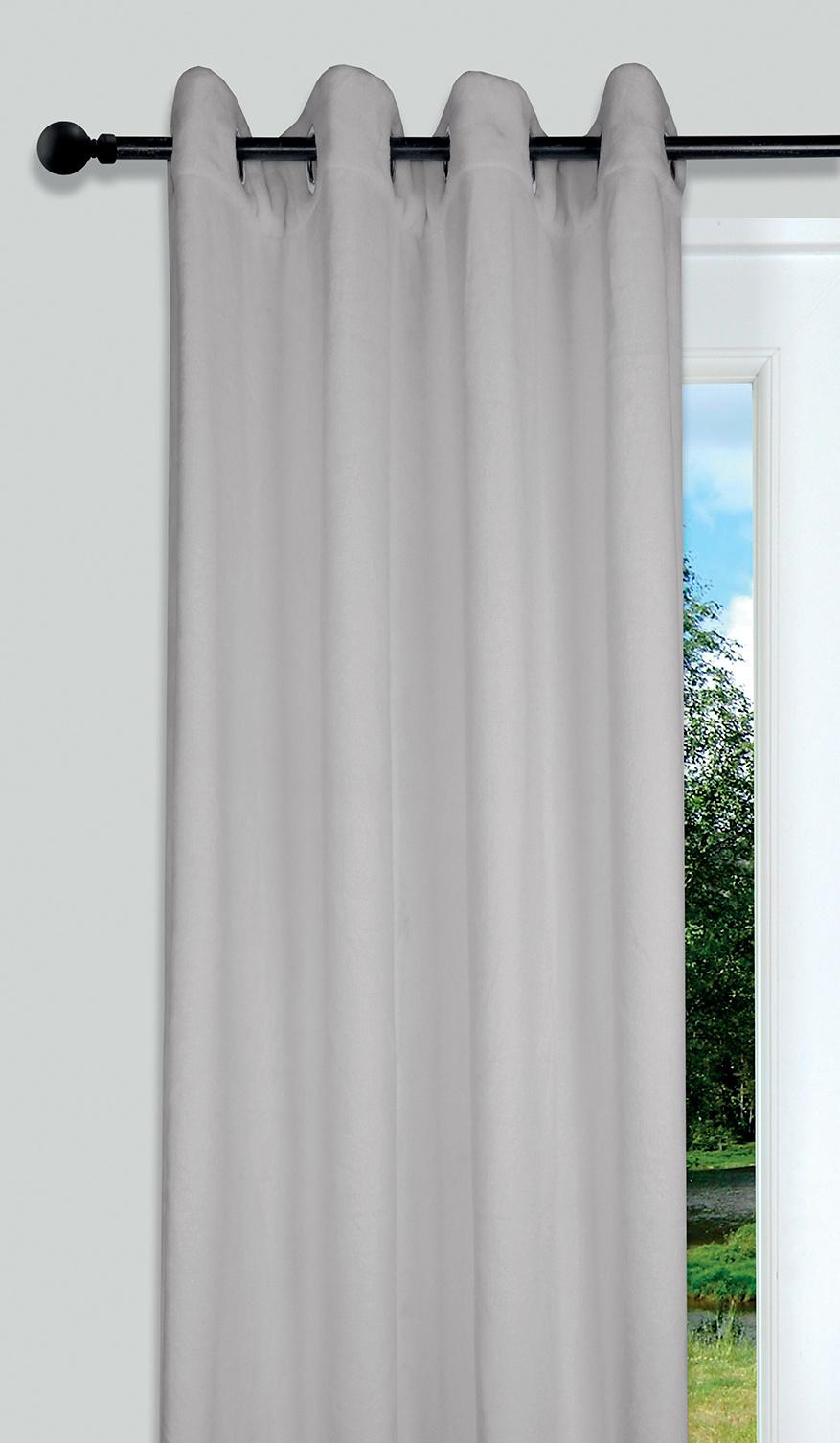rideau isolant en polaire lin perle noir rouge ecru chocolat violet. Black Bedroom Furniture Sets. Home Design Ideas