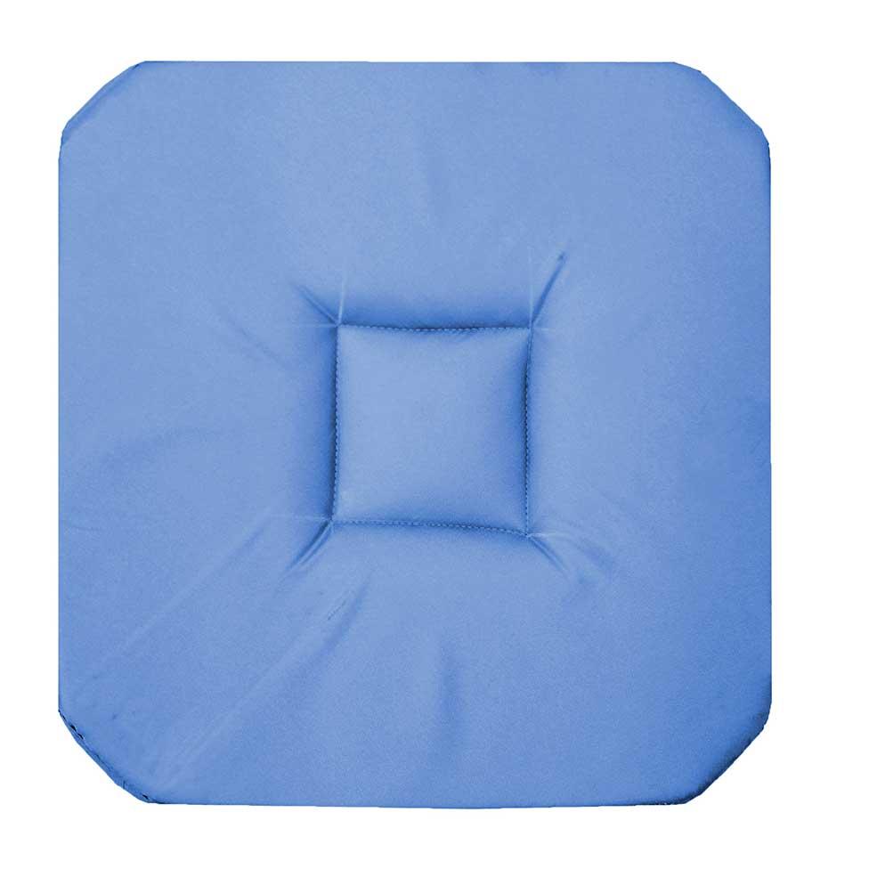 Galette de chaise unie 4 rabats azur menthe for Galette de chaise 4 rabats