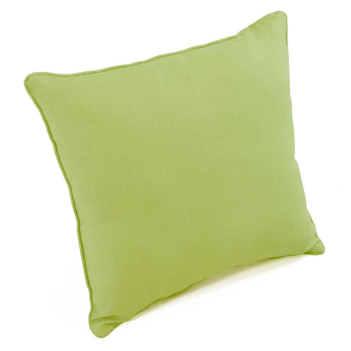 Coussin Déhoussable Uni 100% coton (Vert)