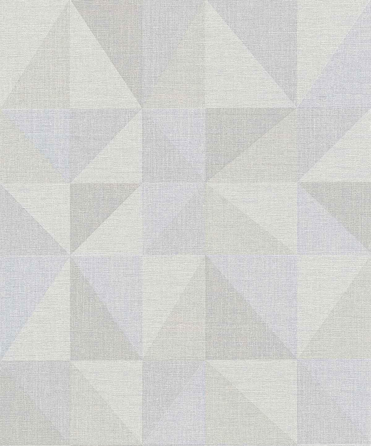 Papier peint à Carrés Bicolores - Gris Bleu - 10 ml x 0,53 m