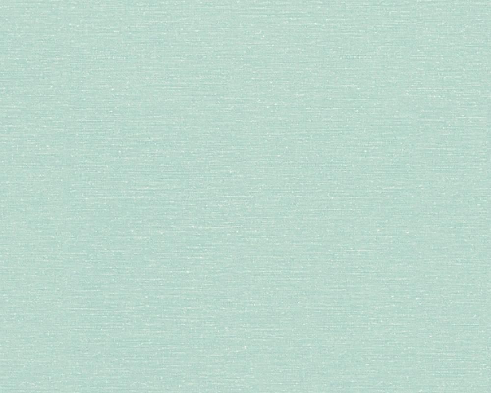 Papier Peint Uni à Effet Chiné - Bleu Vert - 10 ml x 0,53 m