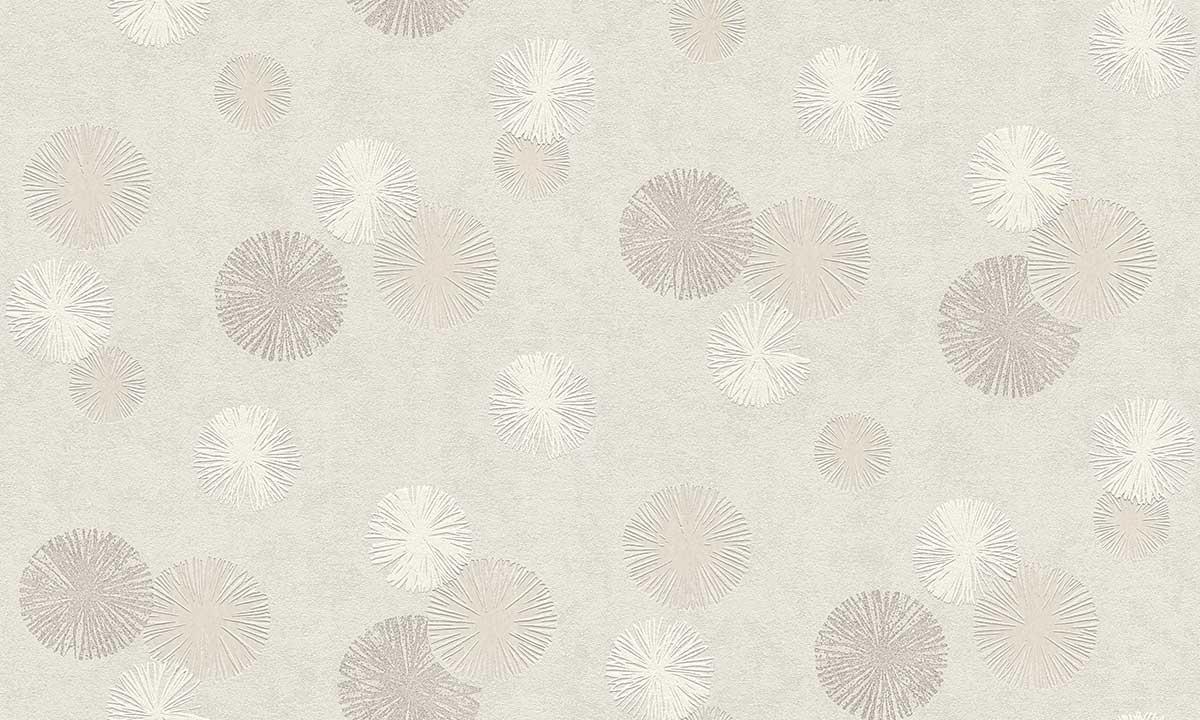 Papier Peint Flocons de Neige - Ecru - 10 ml x 0,53 m