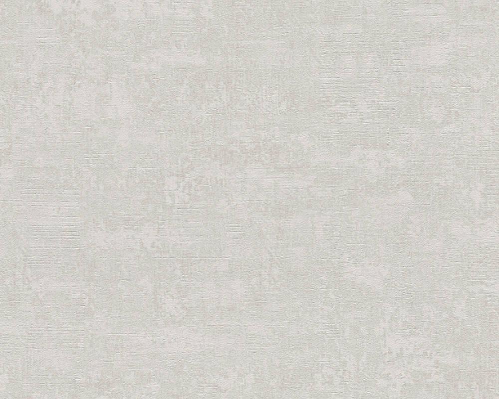 Papier Peint Uni Effet Tâche d' Eponge - Gris Nacre - 10 ml x 0,53 m