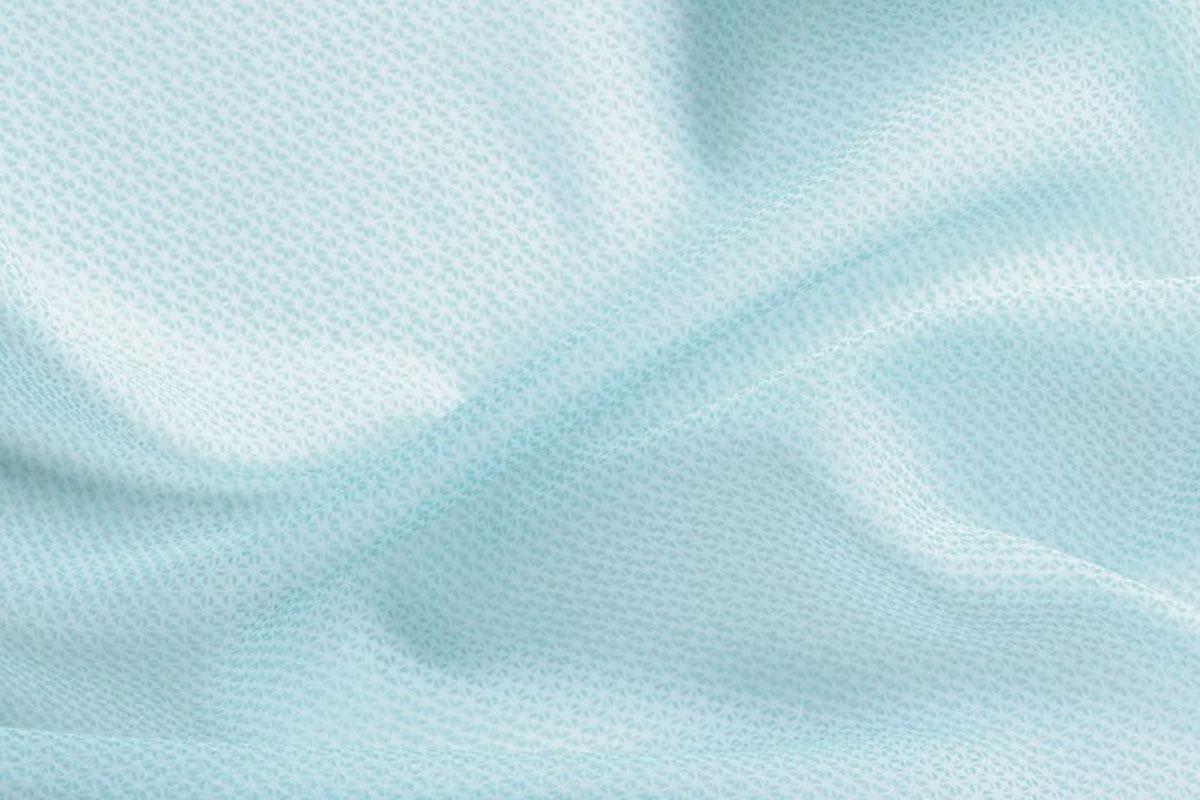 Voilage à Motifs Frappés - Bleu - 150 x 240 cm