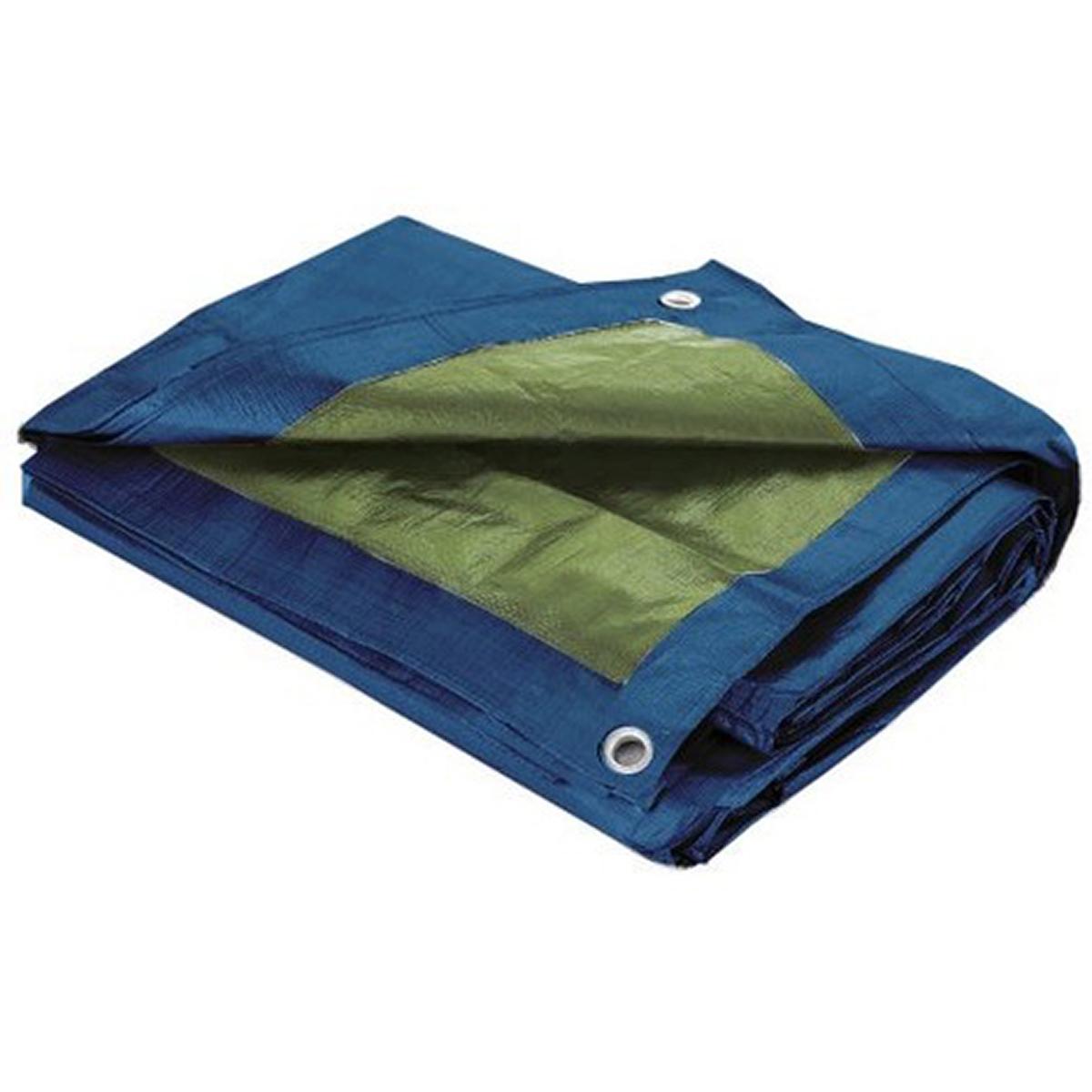 Bâche de Protection étanche avec Oeillets - Bleu - 4 x 5 m