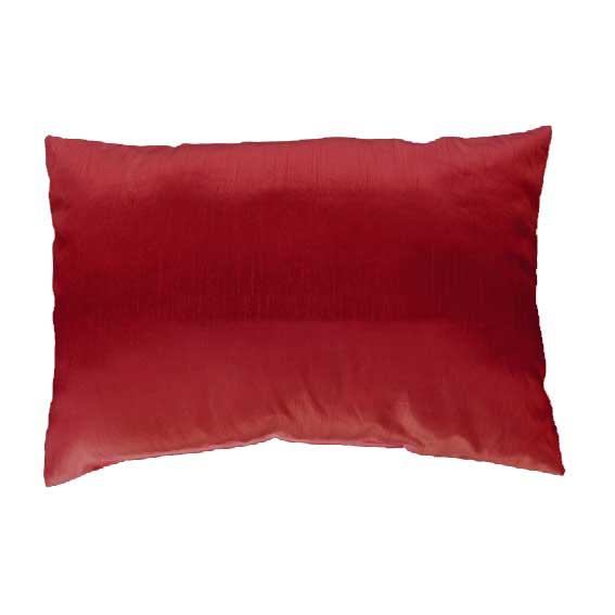 Coussin Rectangulaire Uni Déhoussable - Rouge - 40 x 60 cm