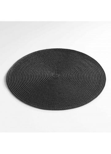 Set de Table Rond et Coloré - Noir - 35 cm