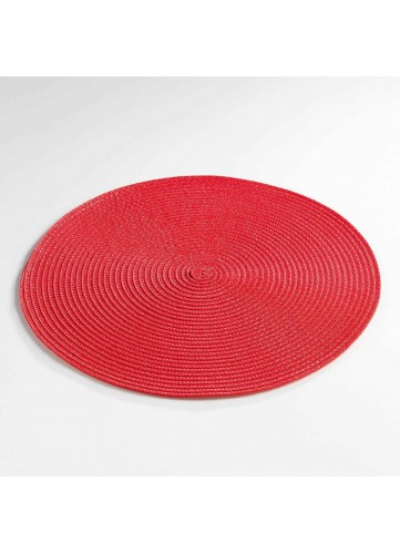 Set de Table Rond et Coloré - Rouge - 35 cm
