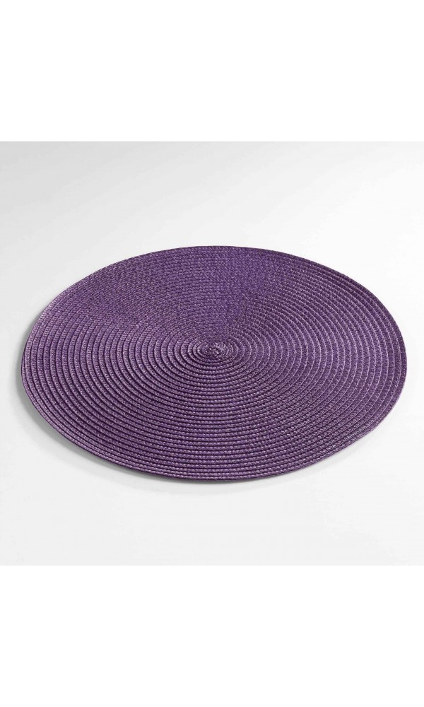 Set de Table Rond et Coloré - Prune - 35 cm