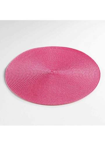 Set de Table Rond et Coloré - Fuchsia - 35 cm