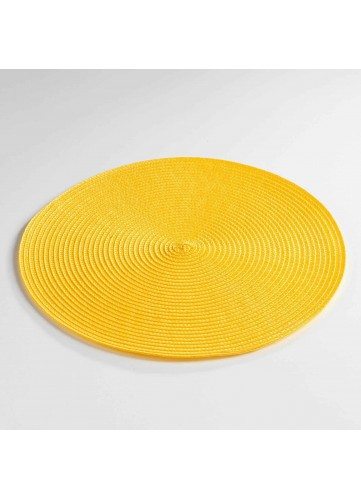 Set de Table Rond et Coloré - Jaune - 35 cm