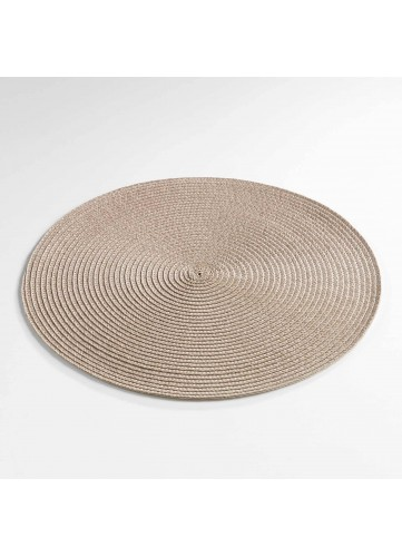Set de Table Rond et Coloré - Taupe - 35 cm