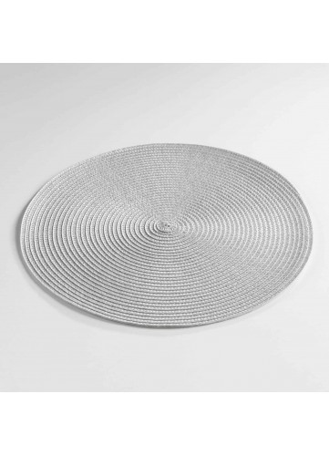 Set de Table Rond et Coloré - Gris - 35 cm