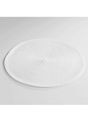Set de Table Rond et Coloré - Blanc - 35 cm