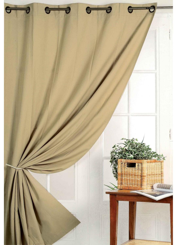 rideau 80 occultant vu sur d co beige achat rideaux sur mesure. Black Bedroom Furniture Sets. Home Design Ideas