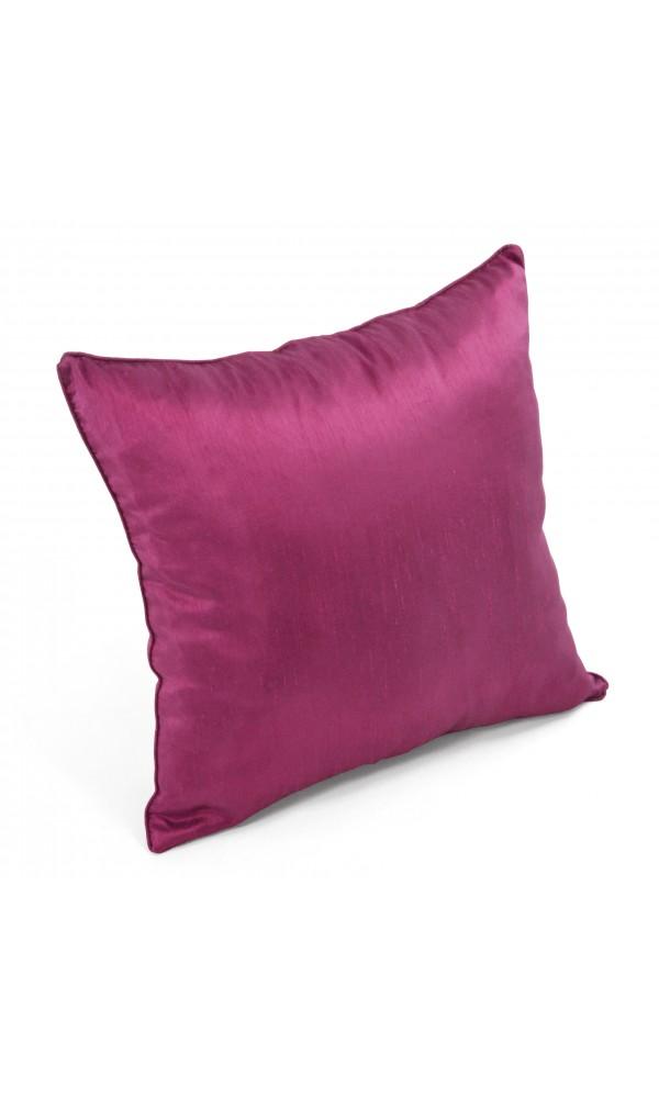 Coussin déhoussable aspect soie violet 45 x 45 cm b1bf9338f47