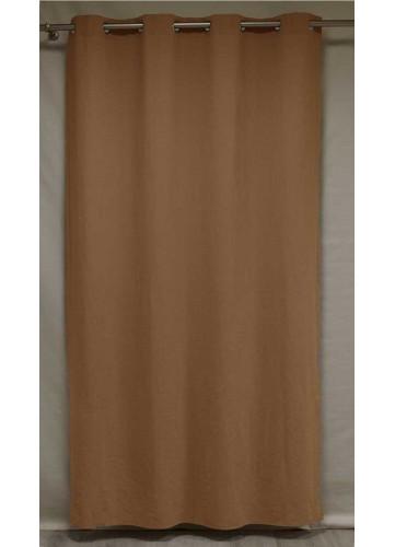 Rideau Uni en 100% Lin Epais - CHÊNE - 140 x 240 cm