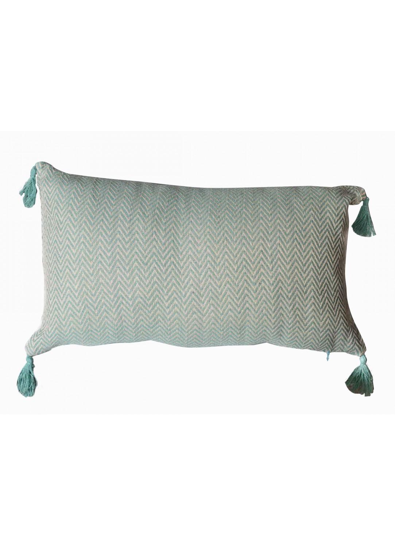 Coussin en Coton Recyclé (Vert)
