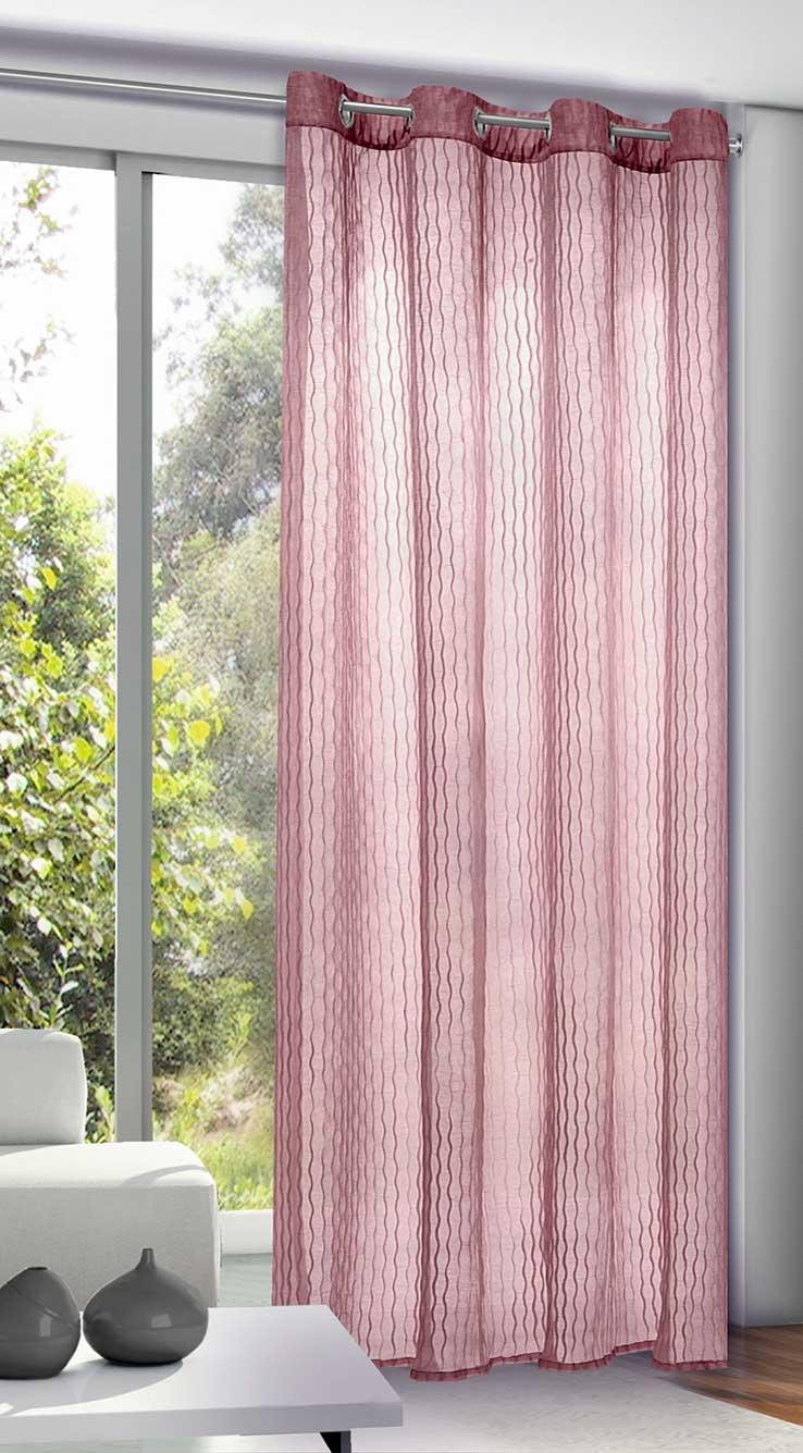 rideau uni en voile froiss framboise blanc cass pierre menthe blanc anthracite. Black Bedroom Furniture Sets. Home Design Ideas
